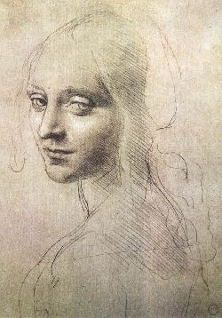 Silverpoint drawing by Leonardo Da Vinci